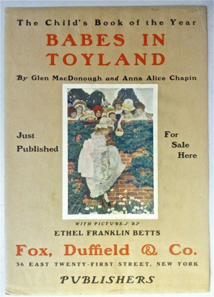 Child's Book of the Year: Babes in Toyland [Advertising Poster]. Ethyl Franklin Betts.