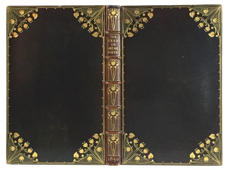 [Doves Binding, on First Edition PRB Germ]] The Germ: Thoughts towards Nature In Poetry, Literature and Art. Dante Gabriel Rossetti, etc.