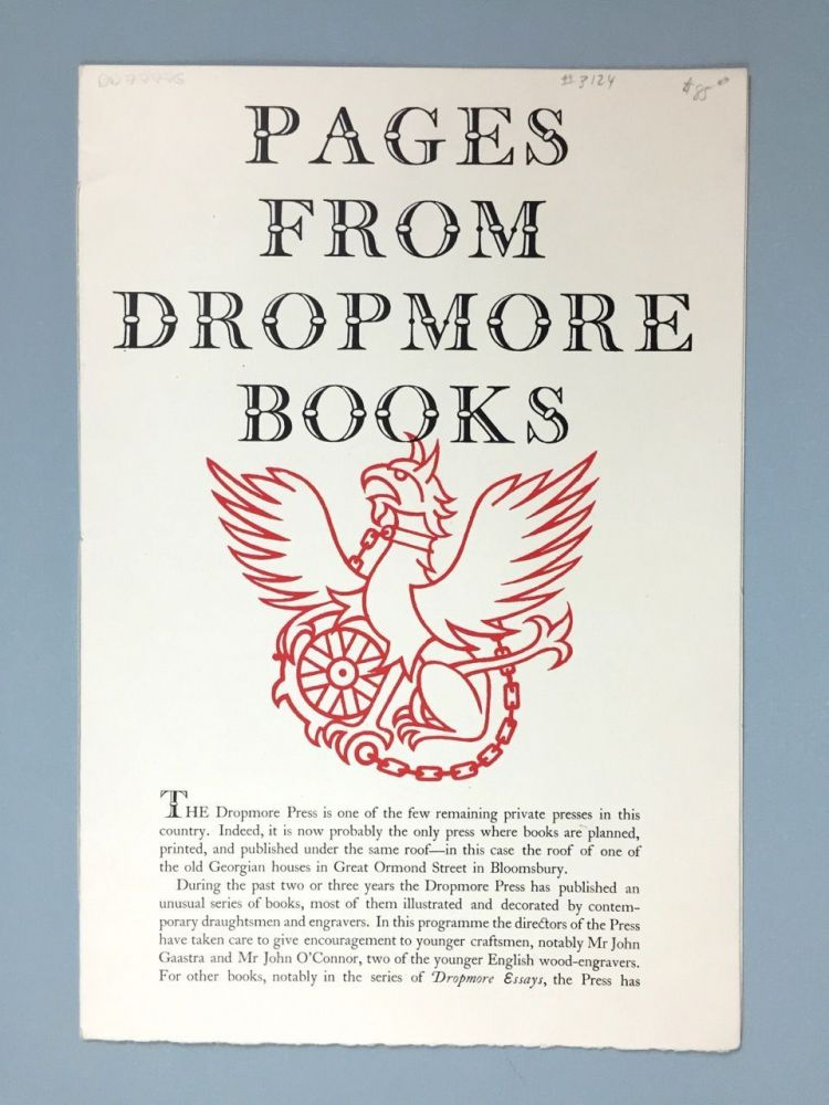 [Dropmore Press] Pages From Dropmore Books [1949]