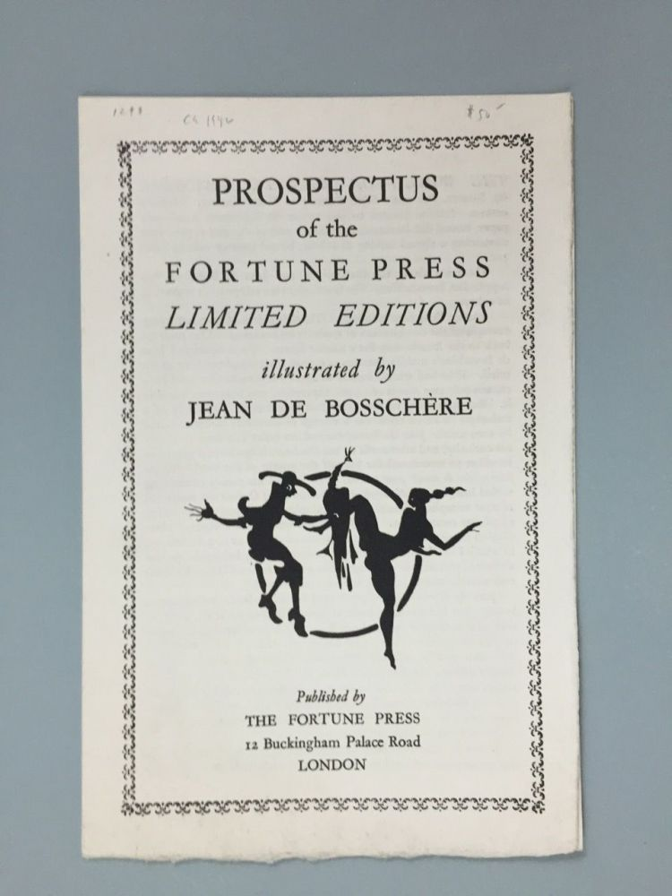 [Fortune Press] Prospectus of the Fortune Press Limited Editions