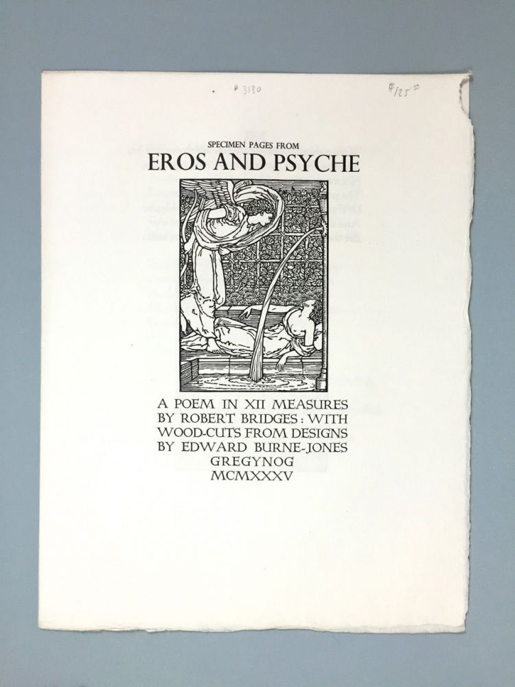 "[Gregynog Press] Specimen Pages From ""Eros and Psyche, A Poem in XII Measures"""