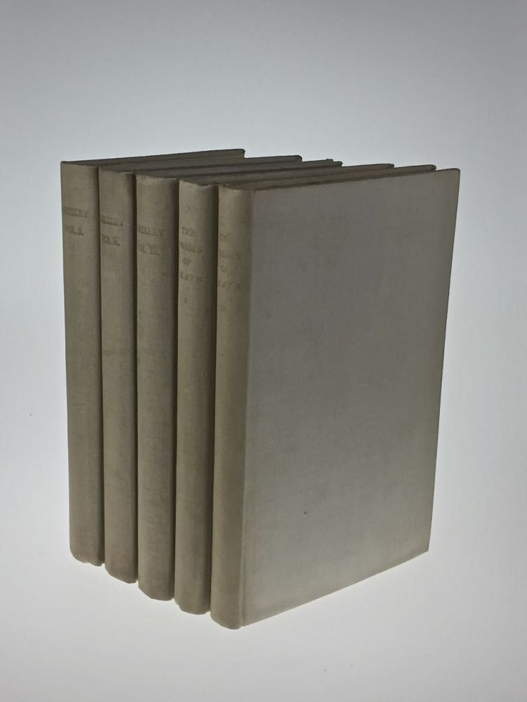 5 [Vale Press] The Poems of John Keats [together with] The Poems of Percy Bysshe Shelley. John and Keats, sshe Shelley.