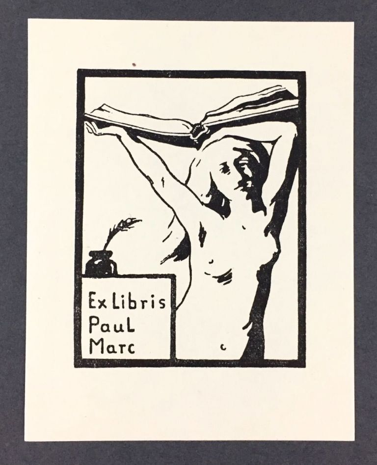 [Marc, Franz] Bookplate by Franz Marc for His Brother