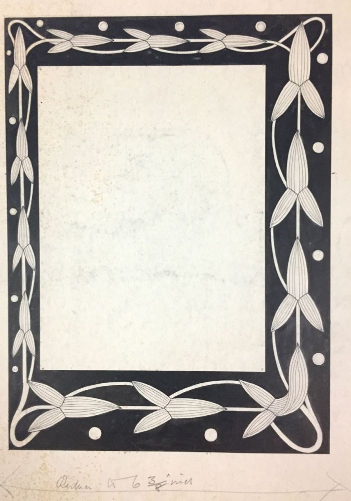 [Macdougall, W. B.- Original Art] Three Large Border Designs for Book of Ruth in Pen and Black Ink. W. B. Macdougall, William Brown.