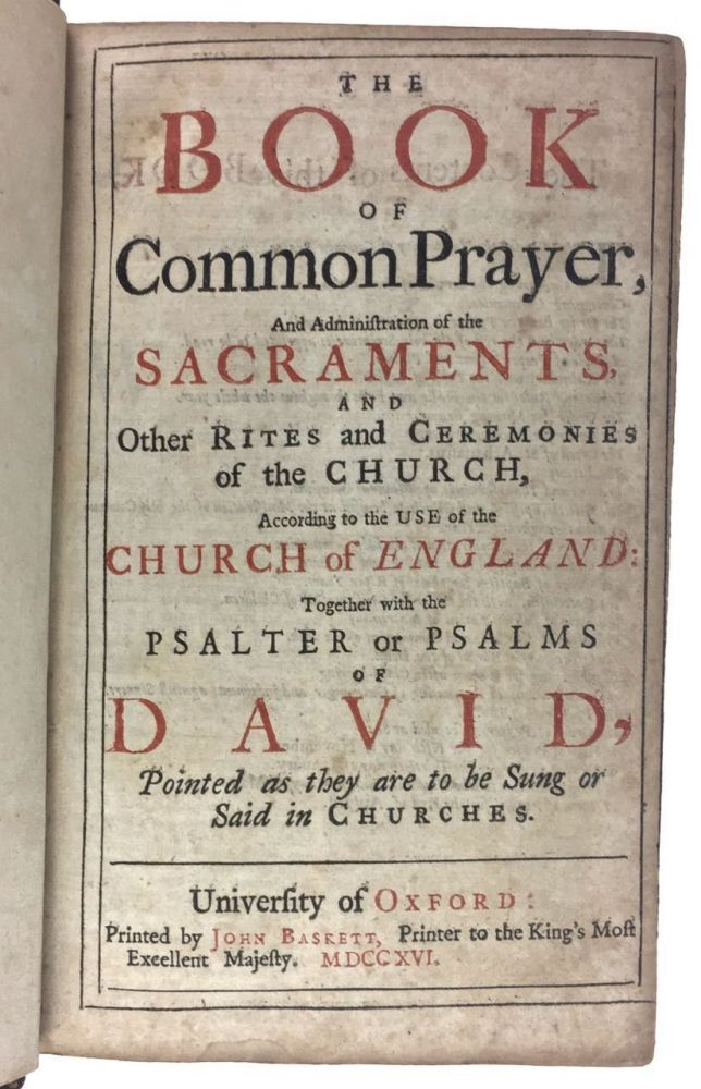 [Baskett Imprint- with Fore-edge Painting] The Book of Common Prayer... etc.