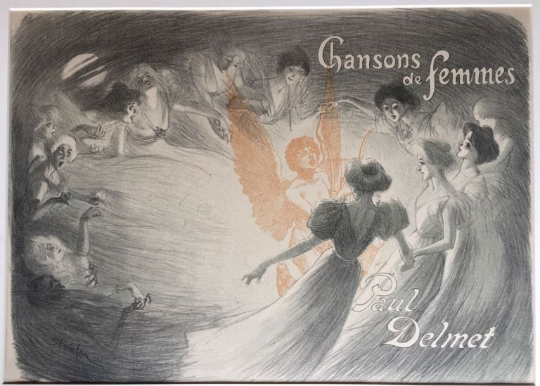 [Steinlen Poster- For Book] Chanson de Femmes. Steinlen, Paul Delmet.
