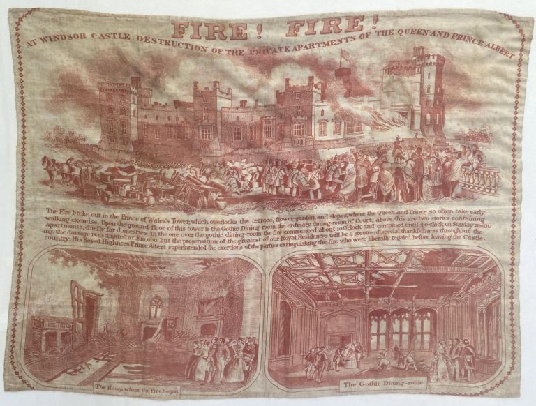 """[Victoriana- Textile] """"Fire! Fire! At Windsor Castle."""""""