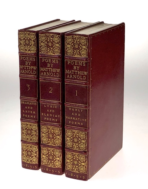 [Binding, Fine- Doves Bindery] Three Volumes: Early and Narrative Poems and Sonnets (1895); Lyric and Elegiac Poems (1895); Dramatic and Later Poems (1895). Fine Binding, Matthew Arnold.