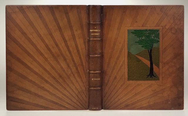 [Binding, Fine- Unusual Zaehnsdorf Tan Morocco Inlaid] A Sentimental Journey Through France and Italy. Laurence Sterne.