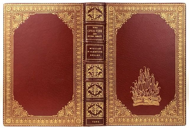 [Binding, Fine- Mounteney, Leonard] The Open Fire and Other Essays. William Valentine Kelley.