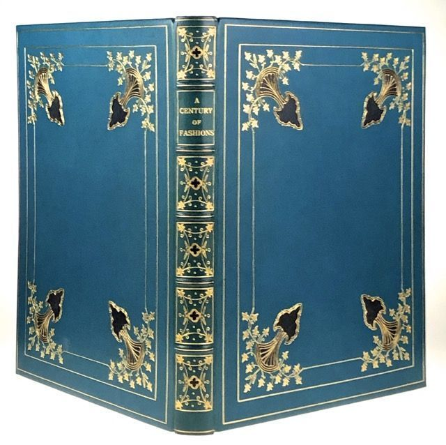[Binding, Fine- The Monastery Hill Bindery] A Century of Fashions (Manuscript and Extra-Illustrated Compendium of 100 Fine Color Engravings). Fine Binding.
