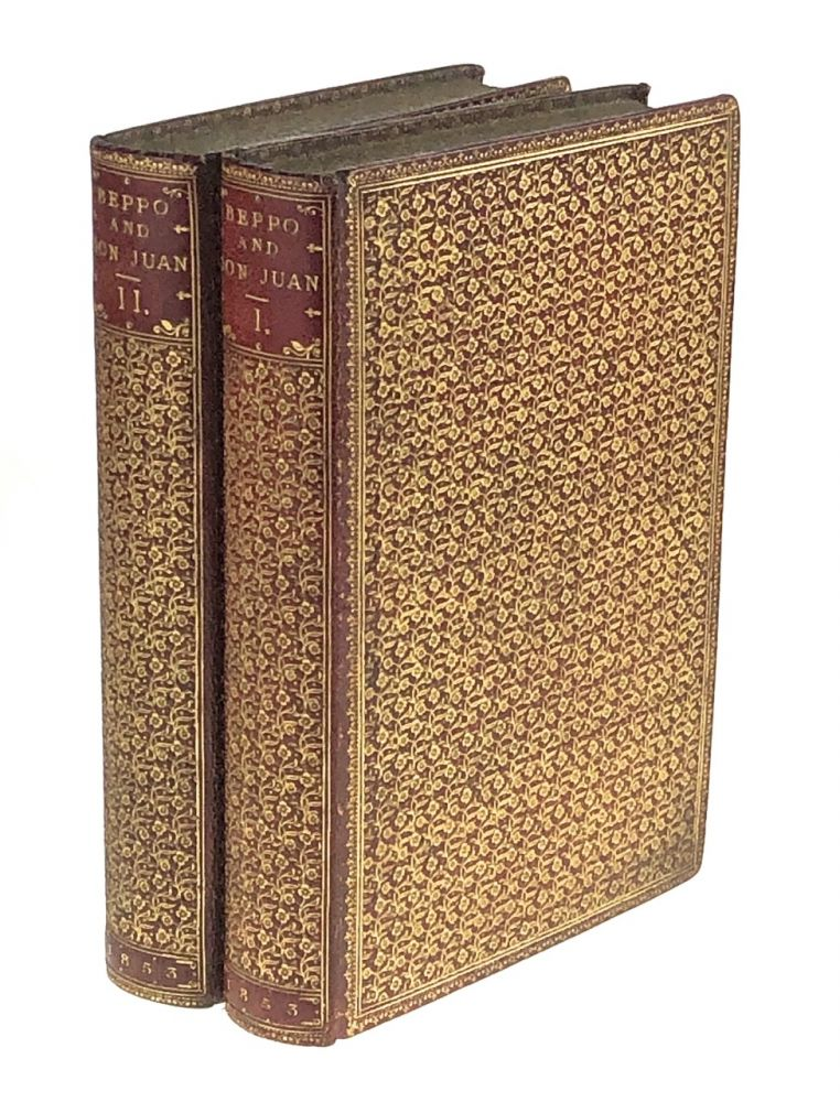 [Binding, Fine- Riviere] Beppo and Don Juan]. Lord George Gordon Noel Byron.