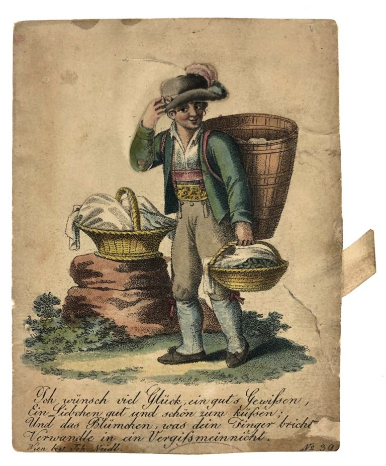 "[Billet- Movable, Hand-colored] ""I wish you good luck, a good conscience..."" Billet."