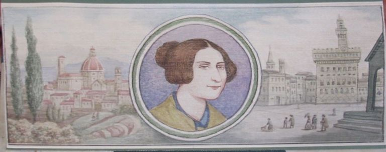 [Fore-Edge Painting]- Martin Frost] Poems of E. B. Browning. Elizabeth Barrett Browning.