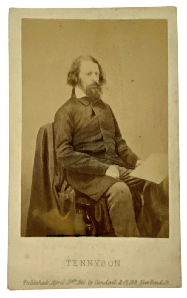 [Tennyson, Alfred Lord] Original Albumin photograph by James Mudd, 1861. Alfred Lord Tennyson.