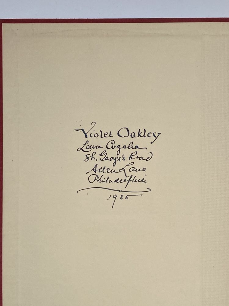 [Violet Oakley Interest- Her Copy, Inscribed] Gerald, A Portrait. Daphne du Maurier.
