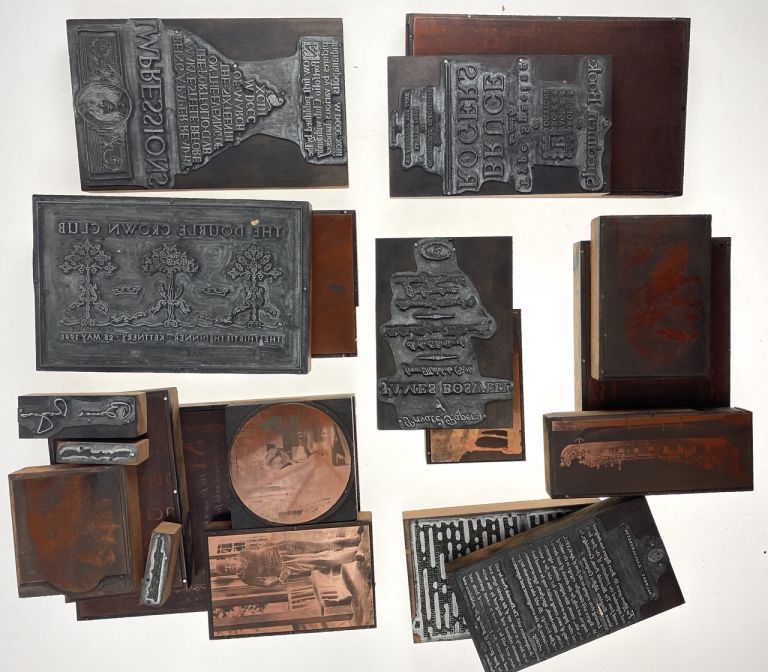 """[Rogers, Bruce- Amazing Collection of 20 Original Printing Plates] Twenty Original Plates from the Landmark Publication """"The Work of Bruce Rogers,"""" 1938. Bruce Rogers."""