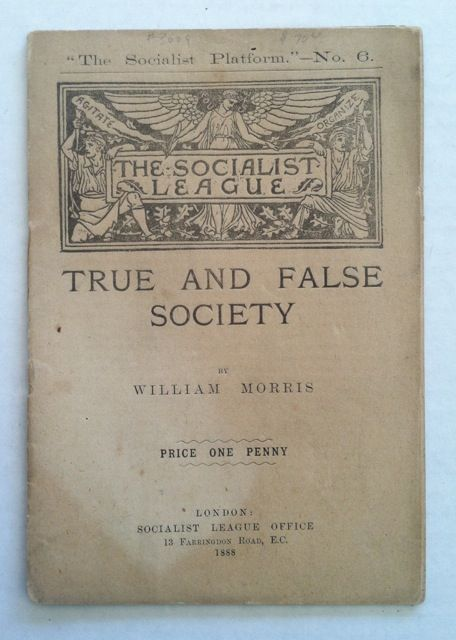 True and False Society. William Morris.