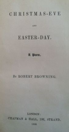 Christmas-Eve and Easter Day