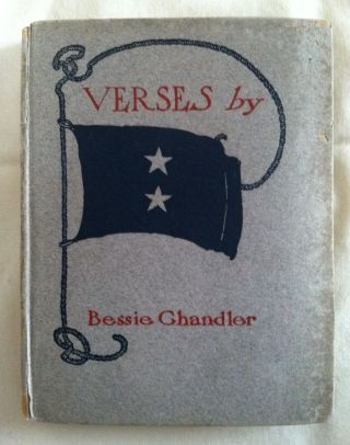 [Blue Sky Press] Verses. Bessie Chandler.