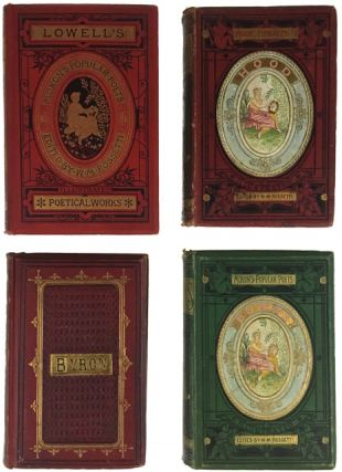 Four Volumes of Poetry in Decorative Bindings. William Michael Rossetti