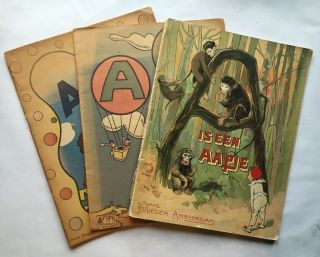A is een Aapje. ABC. ABC. (Three Books). ABC, P. J. van Geldorp, Janine Dauphin