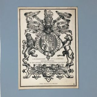 "Pegasus Press] Notice for ""English Painting of the Sixteenth and Seventeenth Centuries"" C...."