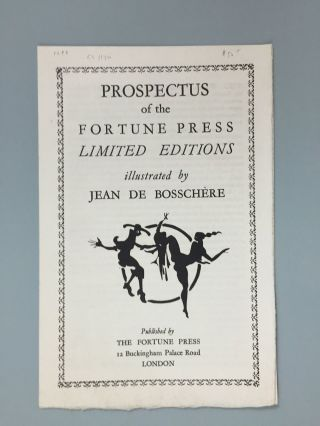 Fortune Press] Prospectus of the Fortune Press Limited Editions