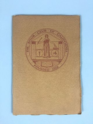 Book Club of California- Nash Printing] Annual Report, 1913