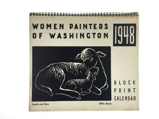 Block Print Calendar] Women Painters of Washington