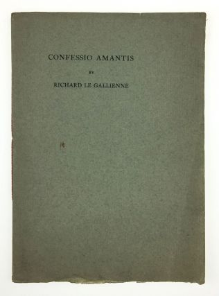 Brothers of the Book- Will Ransom's Copy] Confessio Amantis. Richard Le Gallienne
