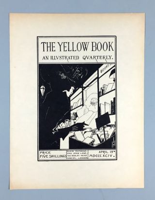 Beardsley, Aubrey] The Yellow Book. A Single Proof Leaf for Cover, April 15th, 1894
