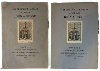 Spoor, John A.] The Renowned Library of the Late John A. Spoor