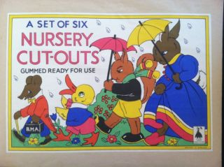 Nursery Cut-Outs, Gummed Ready for Use. Juvenile Cut-Outs