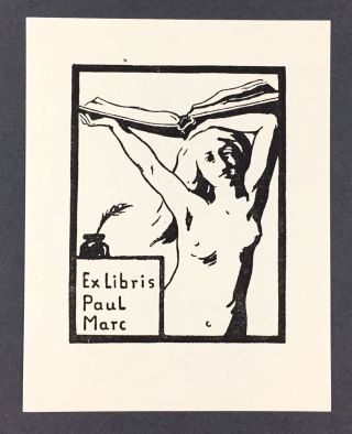 Marc, Franz] Bookplate by Franz Marc for His Brother