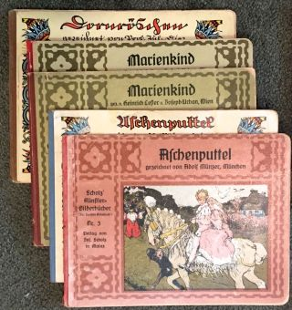 [Jugendstil Series Classic- Scholz' Kunstler-Bilderbucher] Das Deutche Bilderbuch. First 21 Volumes of 22 with Duplicates and Variants (32 books total)