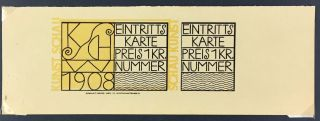 Wiener Werkstatte- Small Collection of Ephemera] Including the Rose Signet design by Kolo Moser...