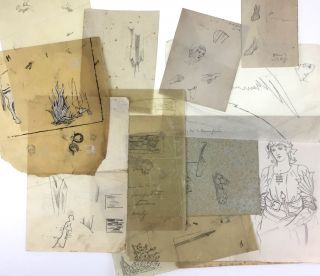 Burne-Jones, Edward- Small Collection of Original Sketches] 14 Separate Pieces, From the Archive...
