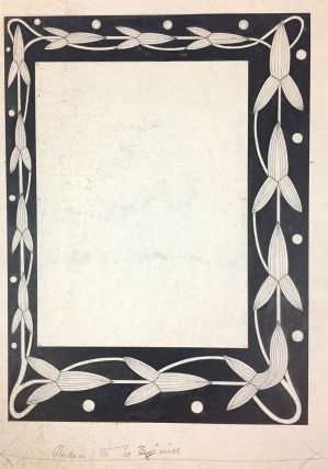 Macdougall, W. B.- Original Art] Three Large Border Designs for Book of Ruth in Pen and Black...