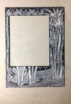 [Macdougall, W. B.- Original Art] Three Large Border Designs for Book of Ruth in Pen and Black Ink