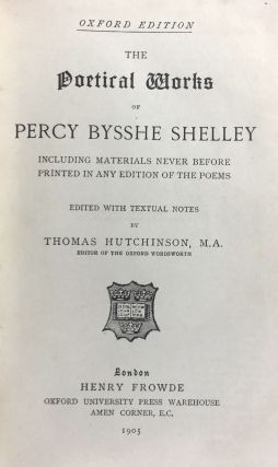[Binding, Fine- Cockerell, Douglas for W. H. Smith Bindery] The Poetical Works of Percy Bysshe Shelley