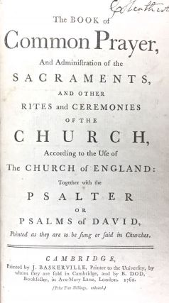 Baskerville Printing] The Book of Common Prayer... etc