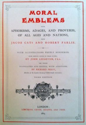 [Leighton, John ] Binding: Moral Emblems with Aphorisms, Adages and Proverbs