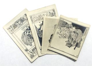 Set of Four Proof Illustrations. Franz von Bayros