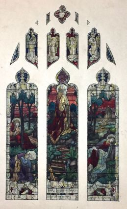 [Stained Glass Watercolor Design] Three Panel Original Watercolor Design