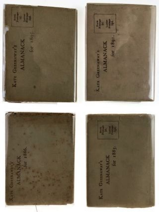 [Greenaway, Kate] Mini-Collection of Four Almanacks, Each in Original Printed Dust Wrapper