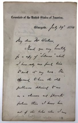 [Harte, Bret- with ALS to Thomas Woolner, Original Member of the Pre-Raphaelite Brotherhood] On the Frontier