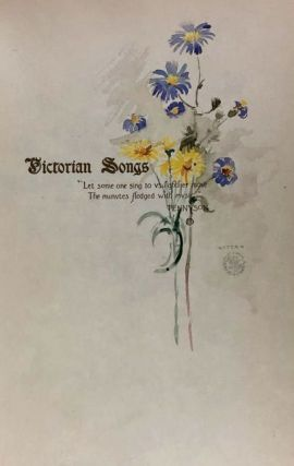 [Garrett, Edmund- 25 Copies with Two Watercolors] Victorian Songs. Lyrics of the Affections and Nature