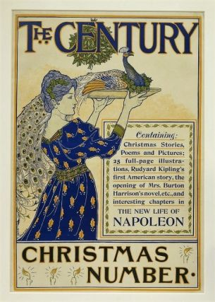 Rhead, Louis] Original Printed Color Poster for the Century Magazine, Christmas Number, 1894....