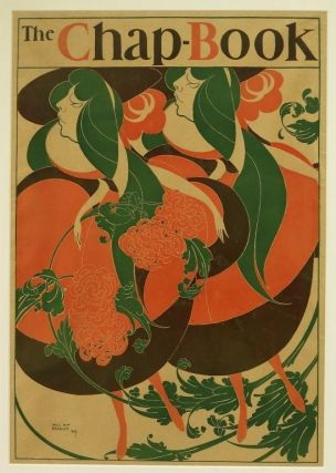 Bradley, Will H.] Exquisite Original Printed Color Poster for The Chapbook, 1894: Called the...